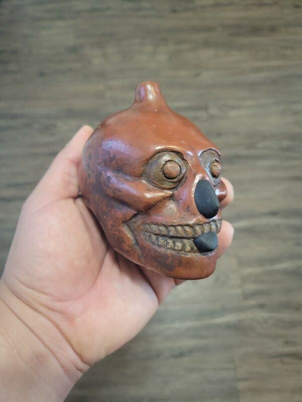 Skull, Dagger, Death Whistle, LOUD, Red, Aztec, Replica, Hand Crafted, Origin