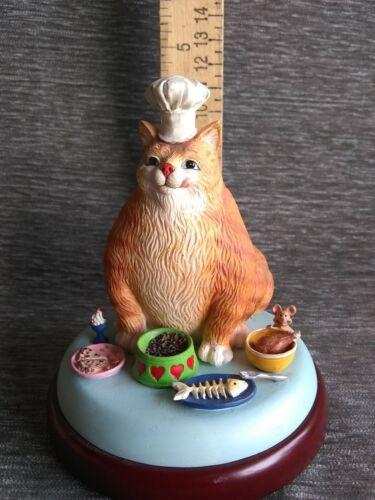 "Danbury Mint By Gary Patterson Cat ""GOT FOOD?"" Figurine FREE SHIPPING"