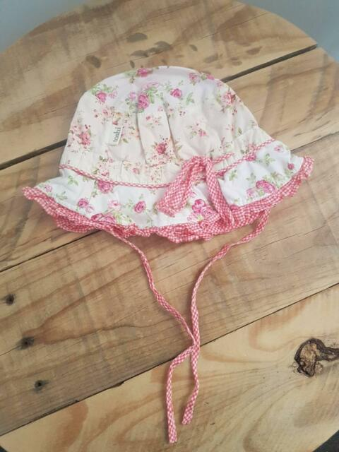 Toshi Floral Printed Baby  47 Toddler Girl Sun Hat Bucket Size Small 3ba93255f47