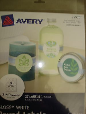 Avery Glossy White Round Labels 22926