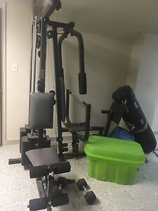 Exercise weight station