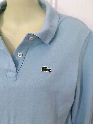 Lacoste Polo Shirt Womens 42 Stretch Cotton Pique Long Sleeve