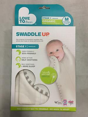 Love To Dream Swaddle UP Organic Cream Natural Beige MEDIUM 13.2- 18.7 lbs NEW