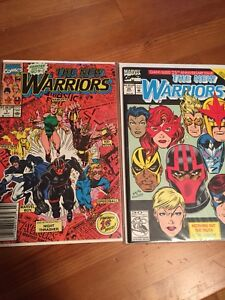Marvel New Warriors comics (fine grade)