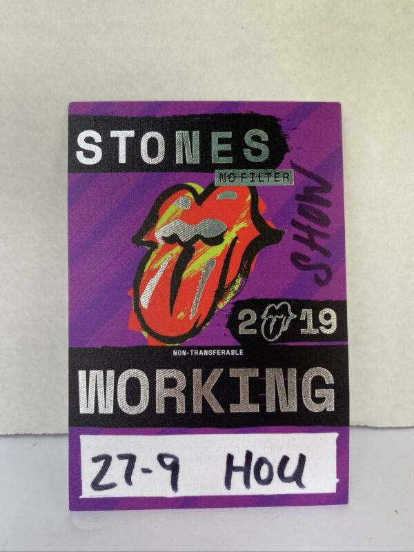 Rolling Stones 2019 No Filter concert tour Local Crew Backstage pass New