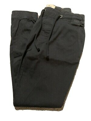 Hollister Mens Black Khaki Joggers Size Small