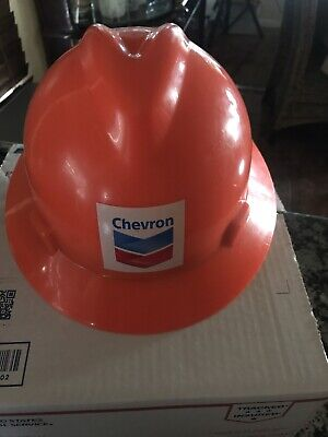 Vintage Chevron Hard Hat Orange