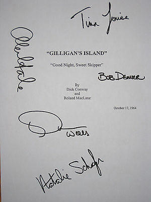 Gilligan's Island Signed TV Script X5 Bob Denver Alan Hale Louise Wells reprint