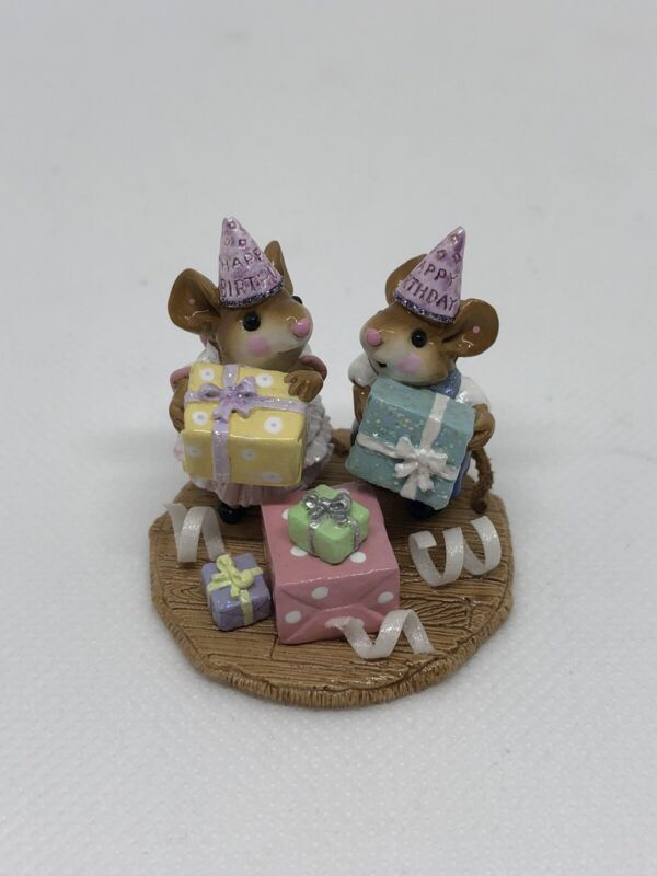 Wee Forest Folk, Party Kids, Happy Birthday, Annette Petersen, M-224a, 1997
