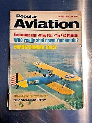 Popular Aviation Magazine 1967 Vintage A-6 Intruder advertisement included