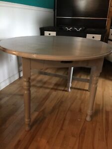Grey dining table- -