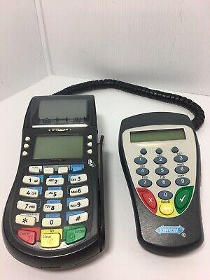 Hypercom Optimum T4220 Credit Card Processing Terminal Machine Wp9 Pin Pad