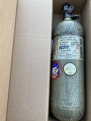 Scott Scba Bottle Air-pak 4500 Psi 45 Min 2005 Cga 347 Pcp Air Gun Hydro 52017