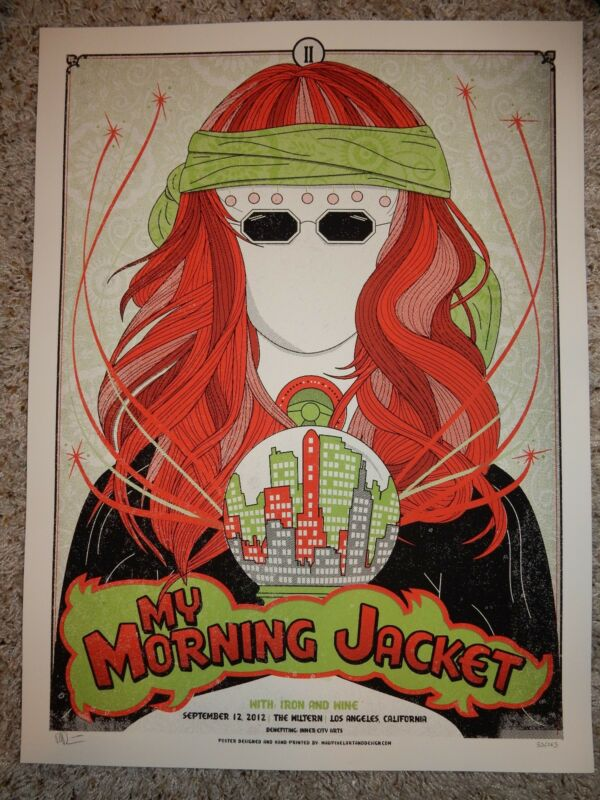 My Morning Jacket Poster 9/12 2012 The WilternMadpixel Signed & Numbered