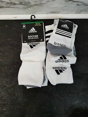 5ff7793d9 2 Adidas Climalite Copa Zone Cushion Soccer Socks Mens Medium 5-8.5 - White  New