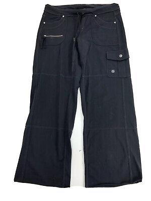 Athleta Fusion Yoga Bootcut Pants Back Pockets Medium (M) Yoga Stretch Cargo