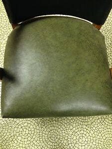 Hunter Green Leather Solid Wooden Chair  London Ontario image 4
