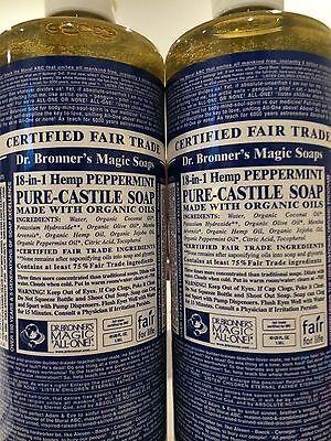 - Dr. Bronner's Magic Soaps: Pure Castile Soap,18-in-1 Hemp Peppermint, 50 fl oz