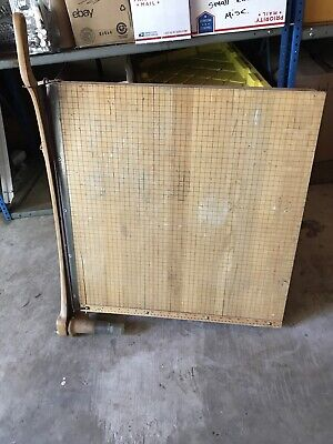 Vintage Ideal Ingento 24 Square Maple Guillotine Paper Cutter - Model 1162