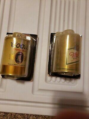 Vintage Beer Can Lighter Holders Miller and Coors