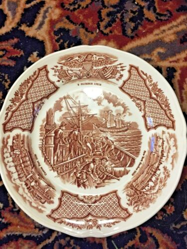 Nice 5 ALFRED MEAKIN STAFFORDSHIRE FAIR WINDS 5 Dessert / Bread Plates