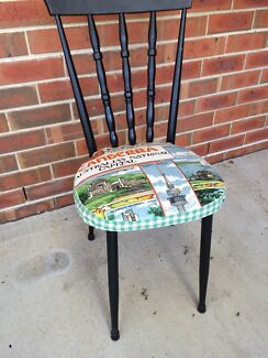 Six vintage chairs, re-covered with vintage tea towels, very quirky Harrison Gungahlin Area Preview