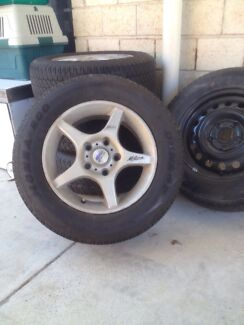 Alloy wheels off Holden Commodore Taigum Brisbane North East Preview