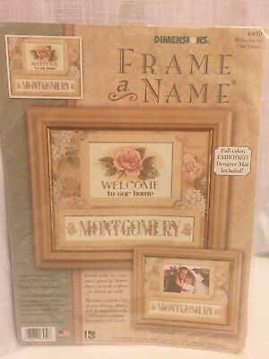 Dimensions Welcome to our Home w/Name Wedding Love Kit #6950 Cross stitch - NEW Wedding Welcome Kit