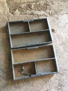 Truck tool box trays