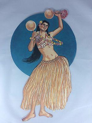 6 pcs.VINTAGE HAWAIIAN LUAU CUTOUTS  Hawaiian Luau Beach Party Supply Decor 7-1 - Luau Gift Bags