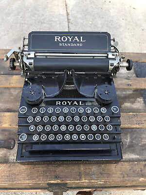 Antique 1911 Royal Standard NO-1 Typewriter Serial #71492 As-is 110 Years Old
