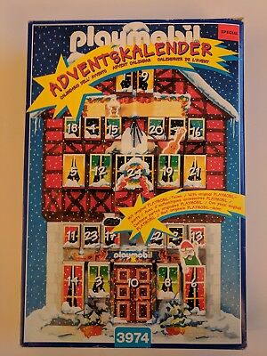 Playmobil 3974 Advent Calendar II Santa's Elves Workshop 1997 Incomplete