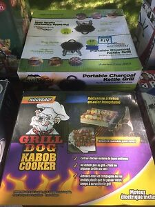 Charcoal BBQ or Kabob Cooker Rotisserie