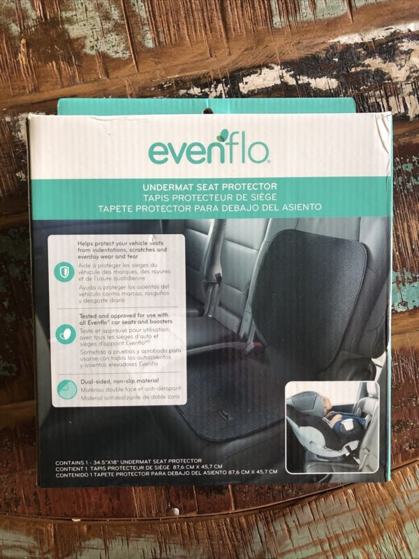 Evenflo Undermat Seat Protector For Car Seats & Boosters (Black)
