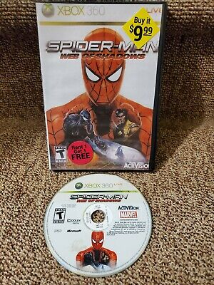 Spider-Man: Web of Shadows (Microsoft Xbox 360, 2008) Disc Only Tested Works
