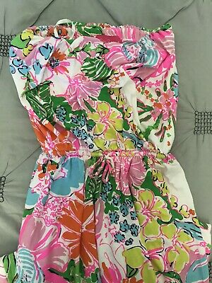 Lilly Pulitzer For Target Maxi Dress Strapless Sundress Nosey Posey Floral Small