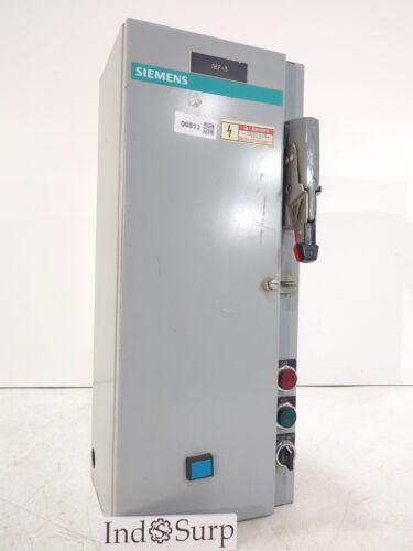 Siemens Disconnect 30 Amps 480 Volts 3 Phase 3 Wire Type Fused Main No 3 Pole