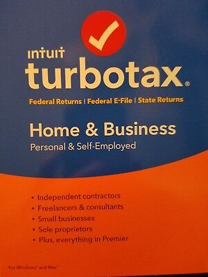 Intuit Turbotax Home   Business 2017   Federal   E File   State  Pc Mac