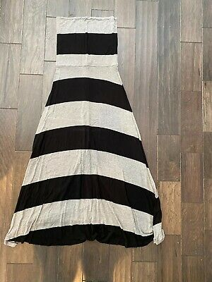Gap Strapless Dress Black & Gray  Maxi Dress Size Medium Super Cute & Cozy!