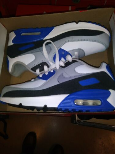 Nike Air Max 90 LTR Big Kids Shoes White-Particle Grey-Navy CD6864-103 Size 6Y - $92.00