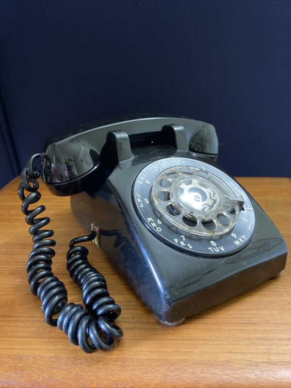 western electric black rotary phone
