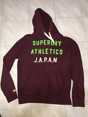 Superdry Athletics Japan  Hood Maroon Men Sweater Large