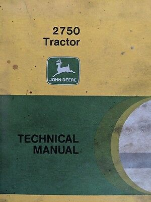 John Deere 2750 Tractor Technical Manual Used Shop Garage Farm Vintage