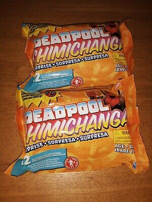 Hasbro Deadpool Chimichanga Surprise Mystery Pack Marvel Mini Figures 2 Pack NEW