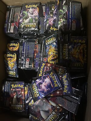 pokemon hidden fates Booster Pack Lot Of 10 Packs Sealed