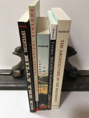 LOT OF 5 NEW BOOKS - SOUTHWEST FRONTIER OUTLAWS ARCHITECTURE - UOFARIZONA PRESS