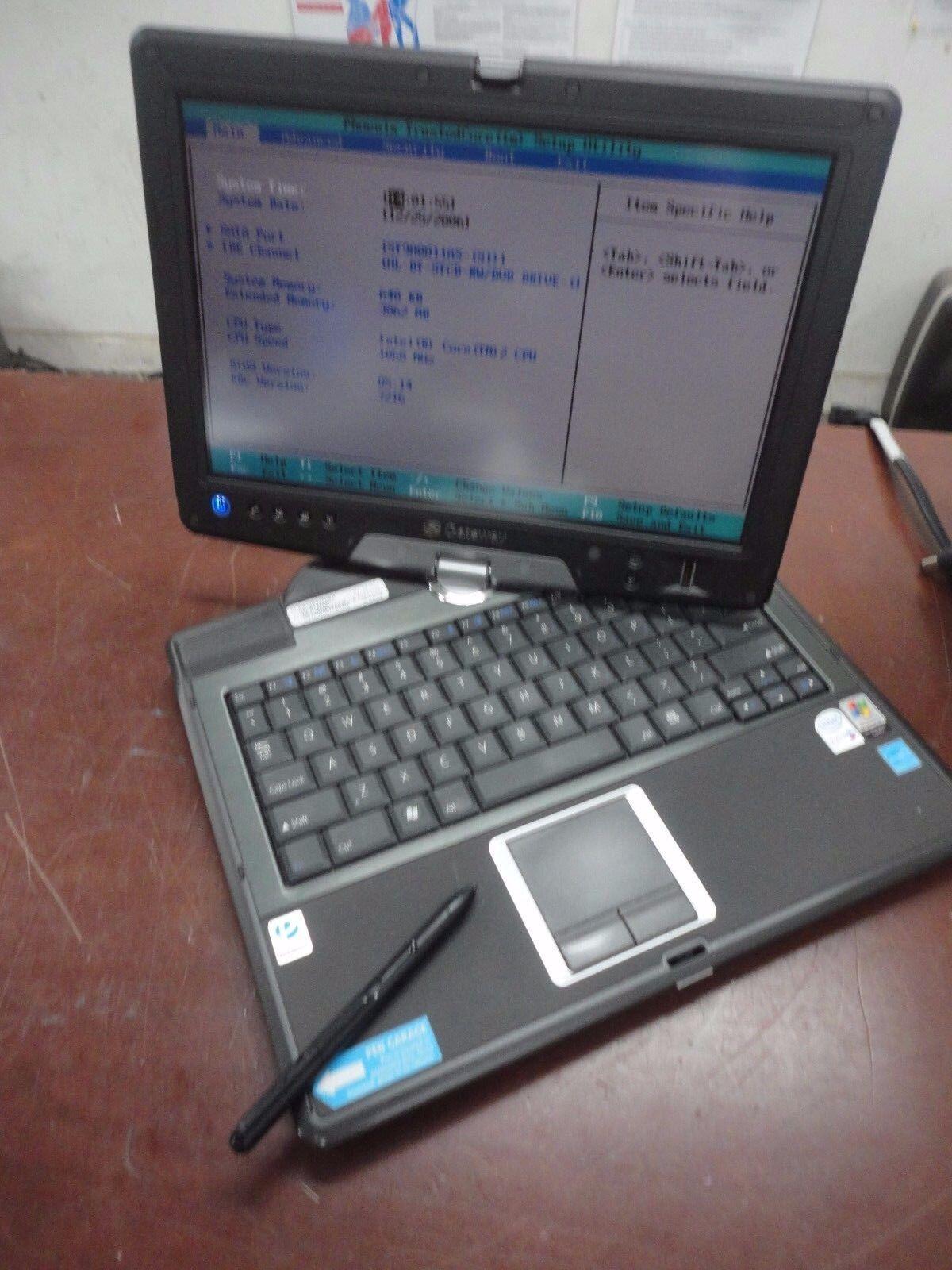 """Gateway TB120 12"""" Core 2 Duo 1.06GHz 3GB 80GB DVD-RW  Touchscreen Laptop + Pen"""