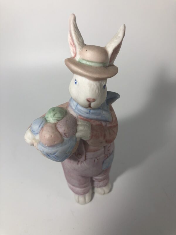 Vintage Easter Rabbit Porcelain Figurine 4""