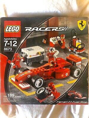 LEGO RACERS Ferrari F1 Fuel Stop (8673)           189 Pieces   *Rare Item* *NIB*