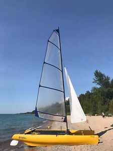 NACRA PLAYCAT 16 ft capacity 800lb selling with trailer